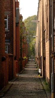 Alley Behind Apartment Building