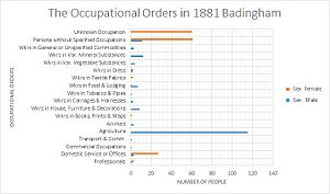 Badingham - Occupational data of Badingham, 1881
