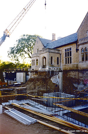 The Bakken - Construction of the museum expansion - August 1997.