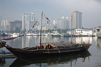 Balangay - The balangay replica docked at CCP Harbor Manila after its South East Asian expedition.