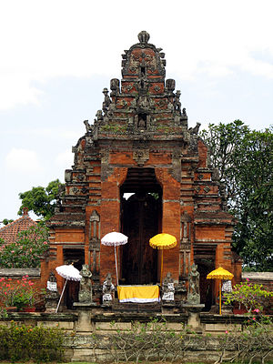 Klungkung Palace - One of the gates to the palace