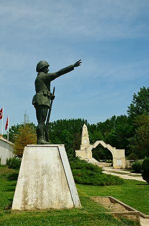 Balkan Wars Memorial Cemetery in Edirne - Monument of Unknown Soldier in front of the Balkan Wars Memorial Cemetery in Edirne.