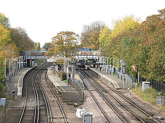 Barnes railway station - Image: Barnes station geograph.org.uk 1561459