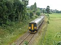 Barnstaple train, passes Cowley - geograph.org.uk - 1366928.jpg