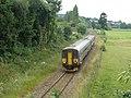 Barnstaple train, passes Cowley - geograph.org.uk - 1366928.jpg