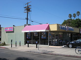 Baskin-Robbins - A Baskin-Robbins restaurant on Melrose Avenue in Los Angeles, California