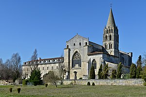 Bassac Abbey - ESE view of the abbey (12th–18th centuries), Bassac, Charente, France