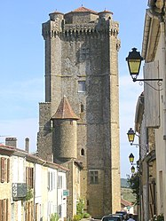 The chateau tower in Bassoues