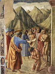 Masaccio: Le Baptême des néophytes