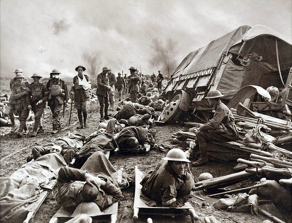 Battle of Menin Road - wounded at side of the road
