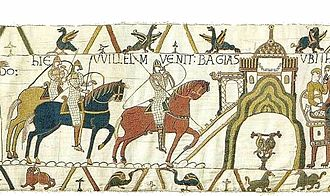 Bayeux - Bayeux (Bagias), depicted in scene 22 of the Bayeux Tapestry