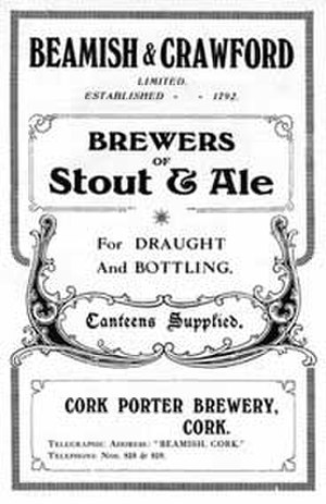 Beamish and Crawford - Beamish Stout, 1919 advert for the noted Cork brewers