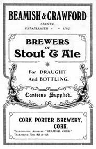 2009 in Ireland - Ireland's oldest brewery in Cork since at least 1650 closed its doors in May. (Pictured: A 1919 advertisement for Beamish Stout)