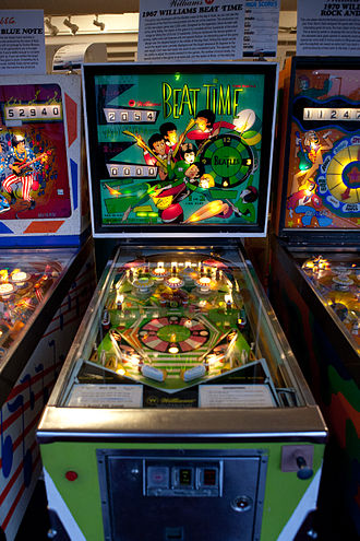 "WMS Industries - 1967 Williams Pinball Game with a Beatles theme, ""Beat Time"""