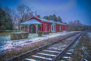 Beaverdam Depot - Beaverdam Depot in Winter