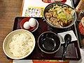 Beef sukiyaki lunch of Sukiya.jpg