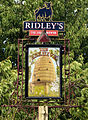 Beehive pub sign, Great Waltham, Essex, England.JPG