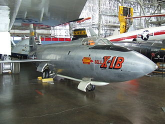 Bell X-1 - X-1B at the National Museum of the United States Air Force.