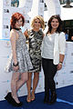 Bella Ferraro, Natalie Bassingthwaighte and Shiane Hawke at Wharf4Ward fundraising.jpg