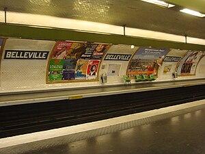 Belleville (Paris Métro) - Image: Belleville 11