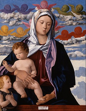 Giovanni Bellini - Madonna and Child, c. 1480; oil; Indianapolis Museum of Art