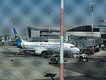 Ben Gurion International Airport מטוס של חברה אוקראינית.JPG