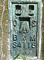 Bench mark on the triangulation pillar, Ned Lane Tong - geograph.org.uk - 1379526.jpg