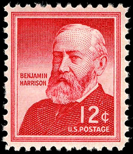 Benjamin Harrison 1959 Issue-12c