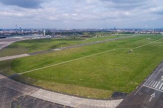 Tempelhofer Feld - Aerial view of Tempelhof Field, 2017