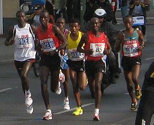 Berlin-Marathon 2008, Abel Kirui (#87, DNF), E...
