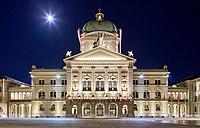 Bern Parliament Plaza Flagged Moon 2019-09-14 00-02.jpg