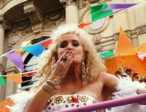 Beverley Callard - Callard at Manchester Pride, 2010.
