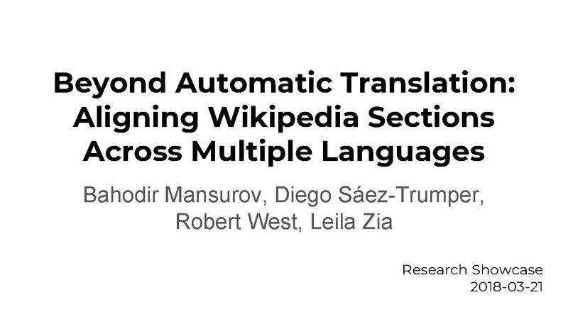 File:Beyond Automatic Translation, Aligning Wikipedia sections across multiple languages.pdf