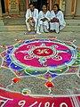 Bharat Mata Temple rangoli.jpg