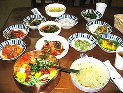 Bibimbap with side dishes.jpg