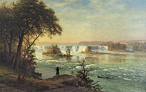 Saint Anthony Falls - The Falls of St. Anthony by Albert Bierstadt