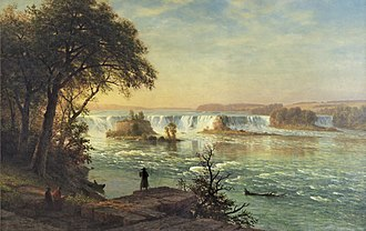 Saint Anthony Falls - The Falls, a painting of St. Anthony by Albert Bierstadt