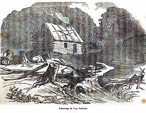 Big Bottom massacre - imagined Blockhouse at Big Bottom, 1791
