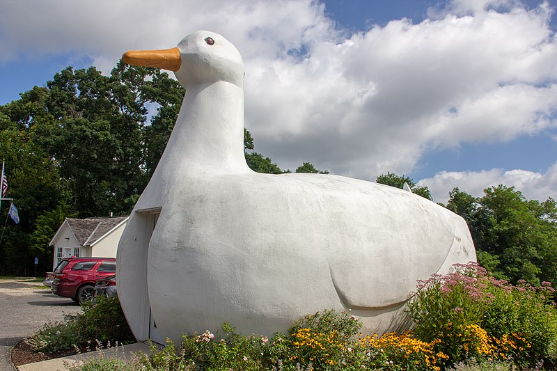 The Big Duck (information and image from [wikepedia](https://en.wikipedia.org/wiki/Big_Duck))