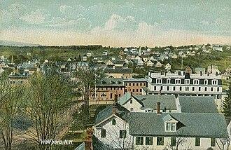 Wolfeboro, New Hampshire - Bird's-eye view in 1909
