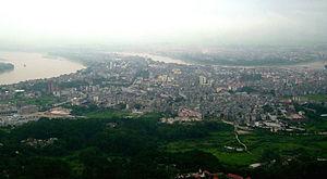 Guiping - Guiping, seen from Mt. Xi