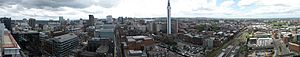 Birmingham City Centre - Image: Birmingham skyline from 2 snowhill
