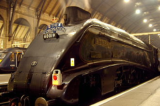 History of rail transport in Great Britain - The LNER Class A4 streamlined loco hauled express trains of the 1930s offered a high-speed alternative to road transport