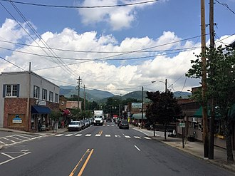 Black Mountain, North Carolina - A view down State Street in downtown Black Mountain