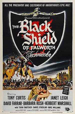 The Black Shield of Falworth - Film poster by Reynold Brown