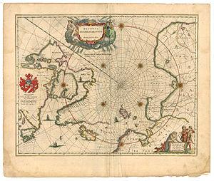 Willoughby's Land - Image: Blaeu 1645 Regiones sub Polo Arctico