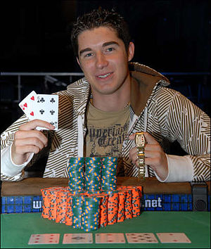Blair Hinkle - Blair Hinkle after he won the $2,000 No-Limit Hold'em event at the 2008 World Series of Poker