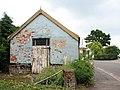 Blue barn and white foxgloves - geograph.org.uk - 1384423.jpg