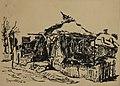 Božidar Boža Prodanović, Srušena kuća u Gornjem Milanovcu, tuš, 1945, 18x25.jpg