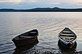 Boats on the shore of lake Zyuratkul in the evening.jpg